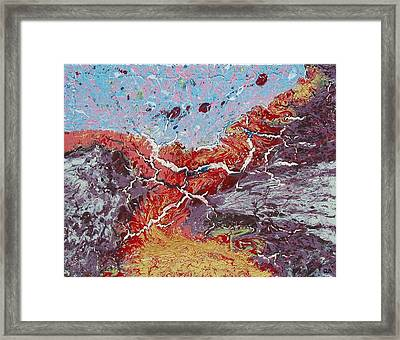 Fire Road Framed Print