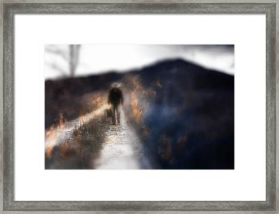 Fire Road Framed Print by Gray  Artus