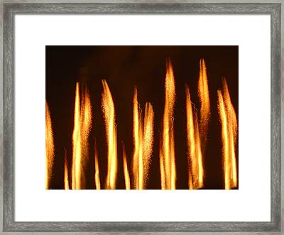 Fire Framed Print by Roman Lezo