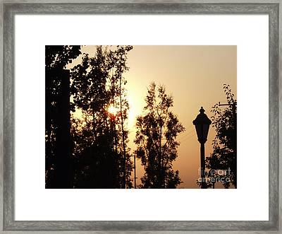 Fire Say Sunset Framed Print by Jamey Balester
