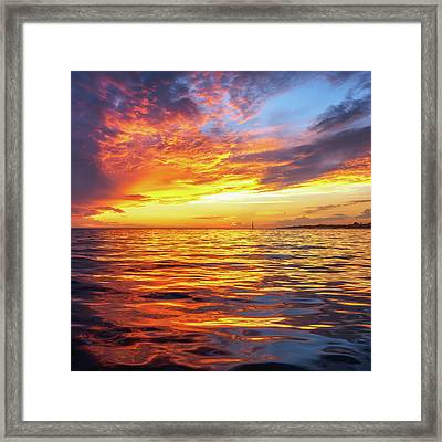 Fire Skies Framed Print by Steve Spiliotopoulos