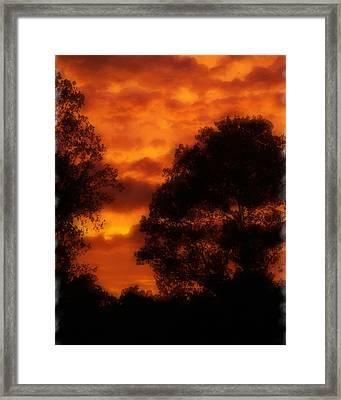 Fire Sky Framed Print by Ken Gimmi