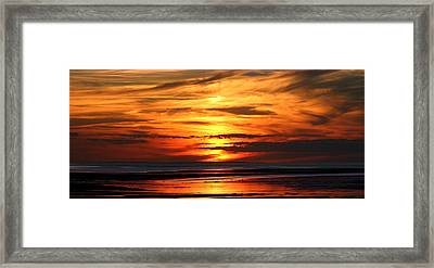 Fire Sky Framed Print by Sam Smyth