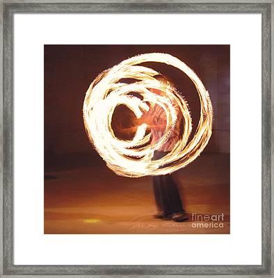 Fire Spinner 5 Framed Print by Xn Tyler