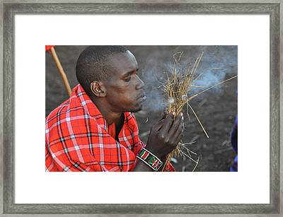 Fire Starter Framed Print by Joe  Burns