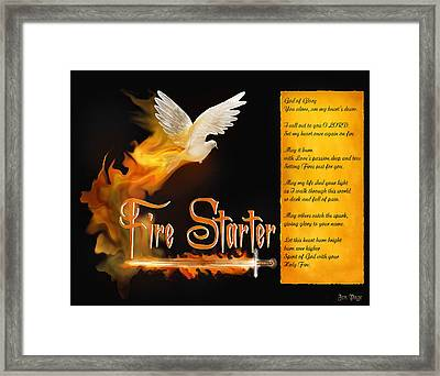 Fire Starter Poem Framed Print