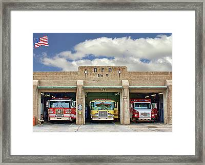 Fire Station - Omaha Fire Department Framed Print