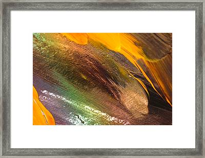 Fire Storm Abstract Framed Print by Jeff Swan