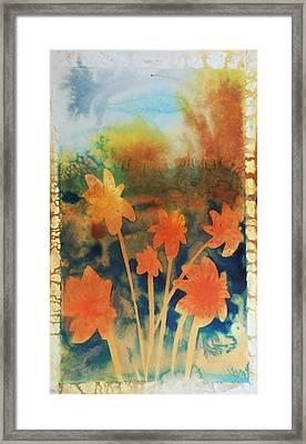 Fire Storm In The Wild Flower Meadow Framed Print