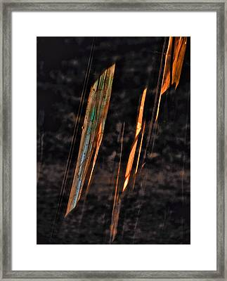 Fire Storm Framed Print by Odd Jeppesen