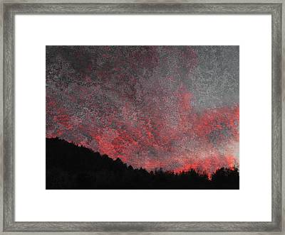Fire Sunset Framed Print by Dorothy Berry-Lound