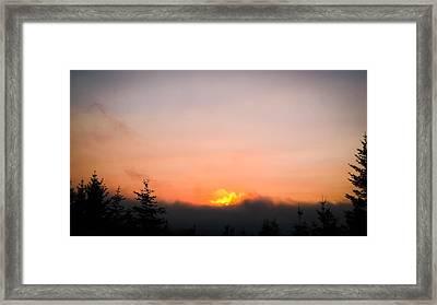 Fire Sunset II Framed Print