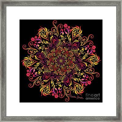Fire Swirl Flower Framed Print