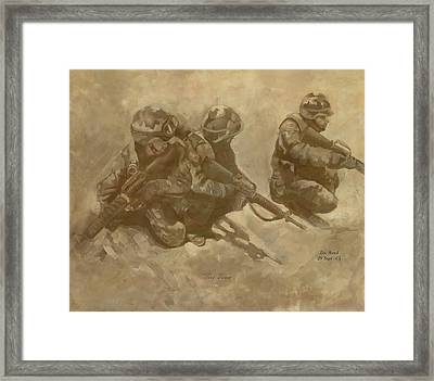 Fire Team Framed Print