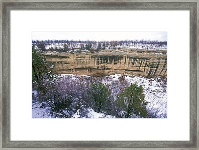 Fire Temple And New Fire House Ruins Framed Print