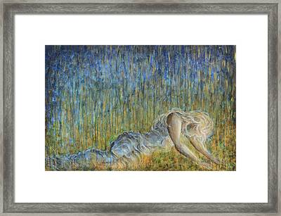 Framed Print featuring the painting Fire To The Rain by Nik Helbig