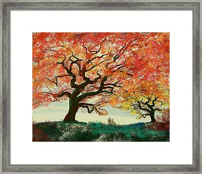 Fire Tree Framed Print