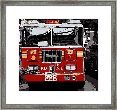 Fire Truck Color 6 Framed Print by Scott Kelley