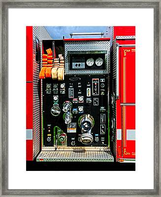Fire Truck Control Panel Framed Print by Dave Mills