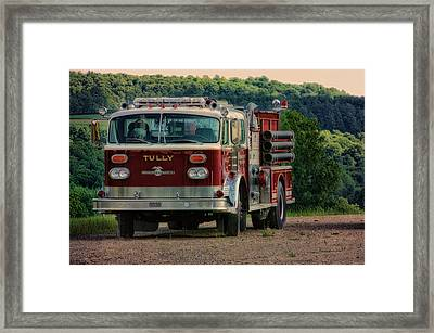 Fire Truck  Engine 13 Village Of Tully New York Pa Framed Print