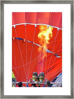 Fire Up Framed Print by Brian Roscorla