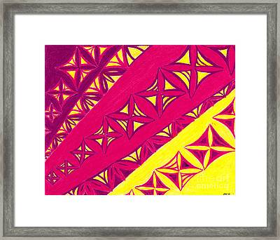 Framed Print featuring the drawing Fire Velvet Lace by Kim Sy Ok