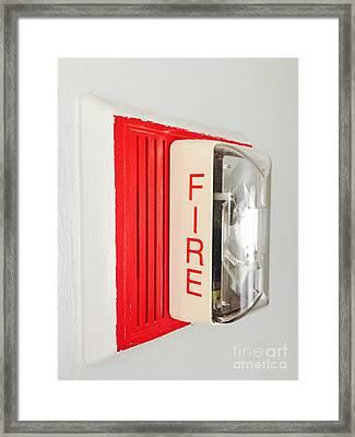Fire Wall Framed Print