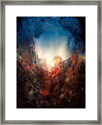 Fire Water Framed Print by Shirley McMahon