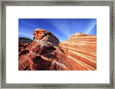 Fire Wave Framed Print