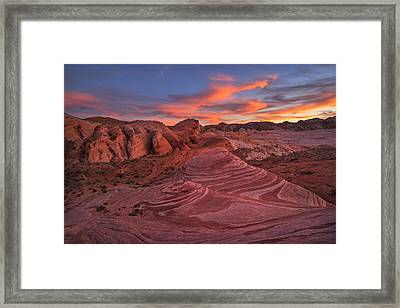 Fire Wave Framed Print by Christian Heeb