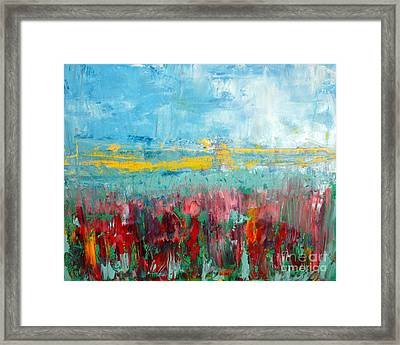 Fire Weed Framed Print