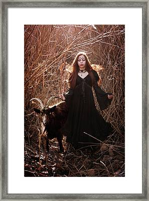 Fire Witch Framed Print by Cambion Art