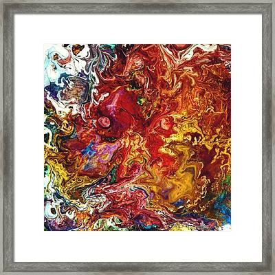 Fire Wizard Framed Print by Keeley Chevrier