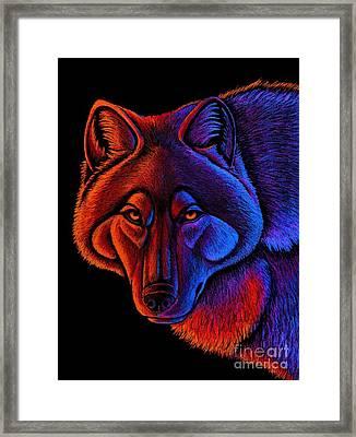 Fire Wolf Framed Print