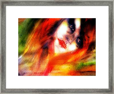 Fire Woman Framed Print