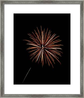Fire Works Framed Print by Gary Langley