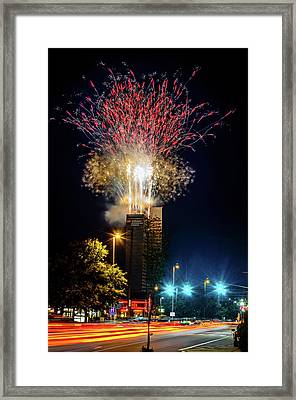 Fire Works In Fort Wayne Framed Print