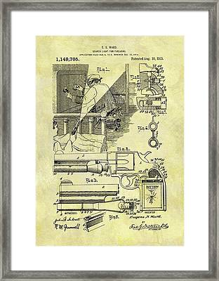 Firearm Search Light Patent Framed Print by Dan Sproul