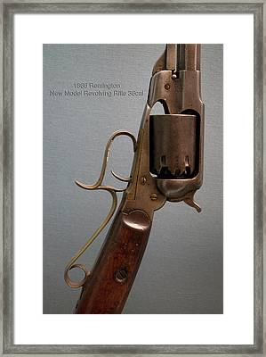 Firearms 1866 Remington New Model Revolving Rifle 36cal 02 Framed Print by Thomas Woolworth