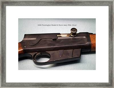 Firearms 1906 Remington Model 8 Semi Auto Rifle 25cal Framed Print by Thomas Woolworth