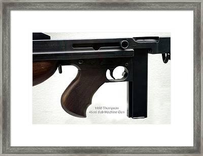 Firearms 1938 Thompson 45cal Sub Machine Gun Framed Print by Thomas Woolworth