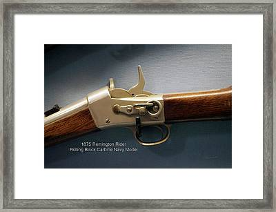 Firearms Military 1875 Remington Rider Rolling Block Carbine Navy Model Framed Print by Thomas Woolworth
