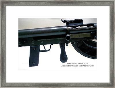 Firearms Military 1918 French Model 1915 Chauchat 8mm Light Sub Machine Gun Framed Print