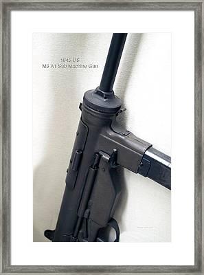 Firearms Military 1945 Us M3 A1 Sub Machine Gun Framed Print