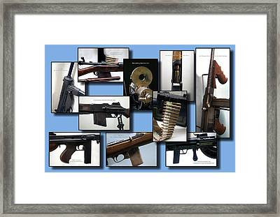 Firearms Military Collage 10 Images Framed Print
