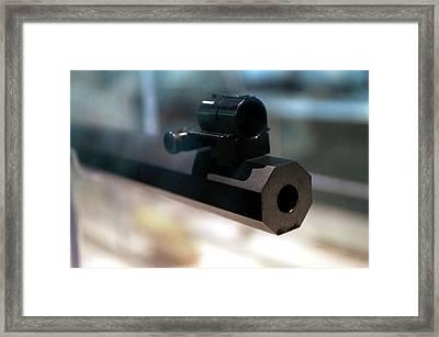 Firearms Octagon Rifle Barrel 01 Framed Print by Thomas Woolworth