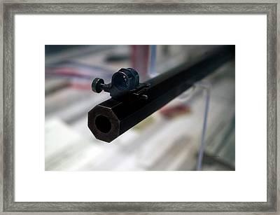 Firearms Octagon Rifle Barrel 02 Framed Print by Thomas Woolworth