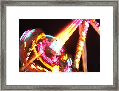 Fireball At Night Framed Print by Lynda Dawson-Youngclaus