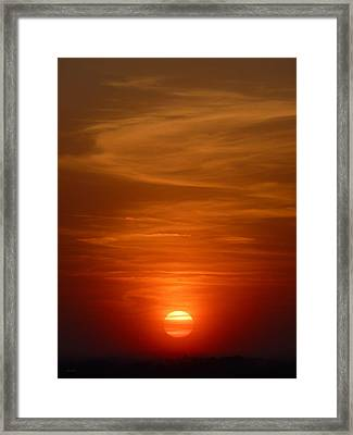 Fireball At Sunset Framed Print
