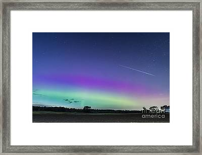 Fireball One Over The Farm Framed Print